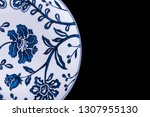 chinese blue and white... | Shutterstock . vector #1307955130