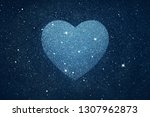 stars in heart shape over blue... | Shutterstock . vector #1307962873