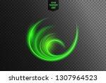 abstract green wavy line... | Shutterstock .eps vector #1307964523