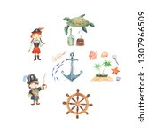 pirate adventures pirate party...   Shutterstock . vector #1307966509