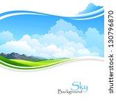 blue sky  green fields and... | Shutterstock .eps vector #130796870