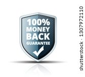 100  money back guarantee shield | Shutterstock .eps vector #1307972110