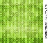 Abstract Green Circles Seamles...