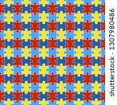 autism awareness seamless... | Shutterstock .eps vector #1307980486