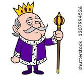 king grumpy   a vector cartoon... | Shutterstock .eps vector #1307994526