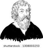 hippocrates  460 370 bc ...   Shutterstock .eps vector #1308003253