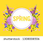 flowers and floral vector... | Shutterstock .eps vector #1308008506