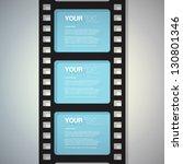 film strip design text box... | Shutterstock .eps vector #130801346