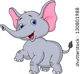 cute elephant cartoon | Shutterstock . vector #130801988