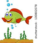 fish cartoon | Shutterstock . vector #130802078