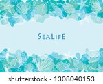 abstract outline starfish and... | Shutterstock .eps vector #1308040153