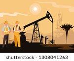 oil industry scene with derrick ...   Shutterstock .eps vector #1308041263