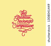 the greatest revenge... | Shutterstock .eps vector #1308041449