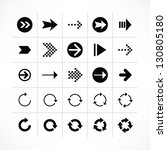 25 arrow sign icon set 03 ...