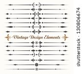 Set of calligraphic design elements .eps10 - stock vector