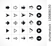 25 arrow sign icon set 05 ... | Shutterstock .eps vector #130808150