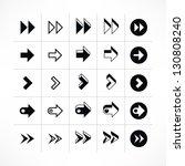 25 arrow sign icon set 07 ... | Shutterstock .eps vector #130808240