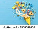 purim celebration concept ...   Shutterstock . vector #1308087430