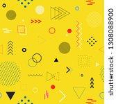 memphis style seamless pattern. ... | Shutterstock .eps vector #1308088900