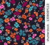 simple cute flower pattern....   Shutterstock .eps vector #1308089113