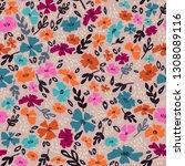 simple cute flower pattern....   Shutterstock .eps vector #1308089116