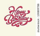 Happy Birthday. Vector Card....