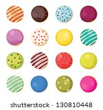 big set of pastries with... | Shutterstock .eps vector #130810448