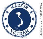 made in vietnam stamp. grunge... | Shutterstock .eps vector #1308116296