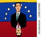 caracas  venezuela   9 february ... | Shutterstock .eps vector #1308149080