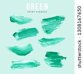 green hand painted elements for ... | Shutterstock .eps vector #1308167650