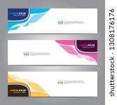 vector abstract web banner... | Shutterstock .eps vector #1308176176