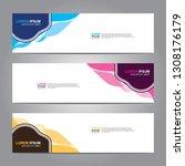 vector abstract web banner... | Shutterstock .eps vector #1308176179