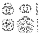 set of patterns twisted rings ...   Shutterstock .eps vector #1308176353