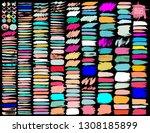 big set of colorful brush... | Shutterstock .eps vector #1308185899