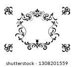flourish frame background | Shutterstock .eps vector #1308201559
