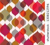 retro background. seamless... | Shutterstock .eps vector #1308212596