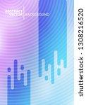 minimal halftone design...   Shutterstock .eps vector #1308216520