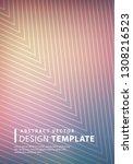 minimal halftone design...   Shutterstock .eps vector #1308216523