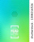 minimal green halftone design...   Shutterstock .eps vector #1308216526