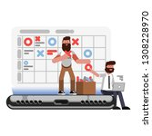 planning and organization... | Shutterstock . vector #1308228970