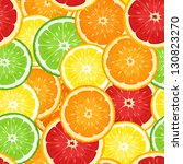 seamless background with citrus ... | Shutterstock .eps vector #130823270