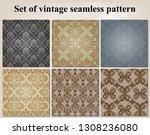 set of retro wallpaper and... | Shutterstock .eps vector #1308236080