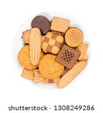 Variety Of Sweet Cookies On A...
