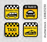taxi   set square stickers ... | Shutterstock .eps vector #130825250