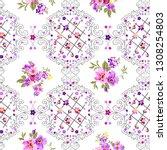 pattern of gray frames on white ... | Shutterstock . vector #1308254803