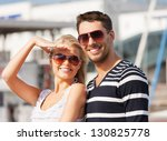 picture of happy young couple... | Shutterstock . vector #130825778