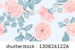 pastel floral pattern  vintage...