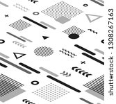 abstract black and white...   Shutterstock .eps vector #1308267163