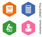 set of 4 education icons set....   Shutterstock . vector #1308267916