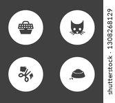 set of 4 mammal icons set....   Shutterstock .eps vector #1308268129